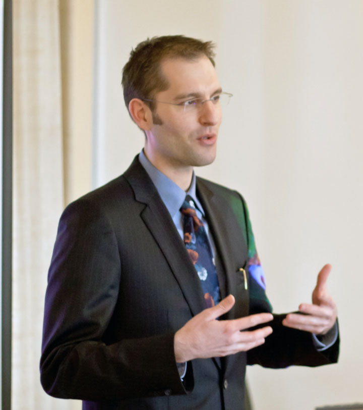 Stephan Schleim lecturing in Tübingen, Germany, 2012